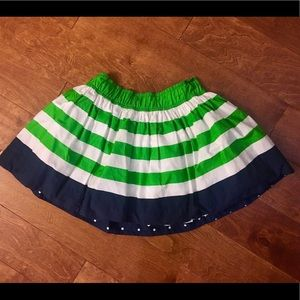 Green, white and navy miniskirt - Abercrombie